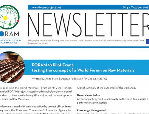 FORAM newsletter #5